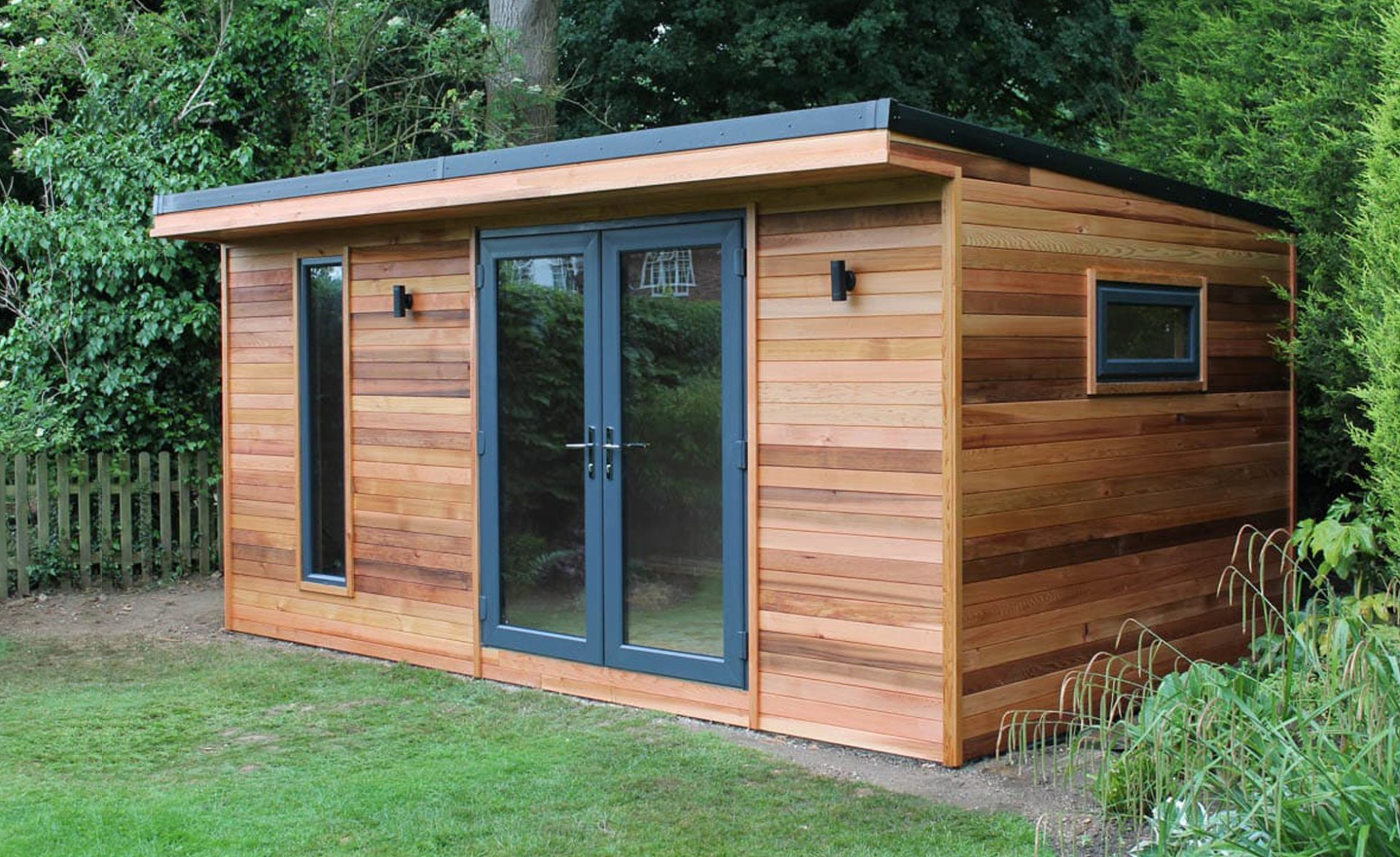 Garden Office Insulated with lights